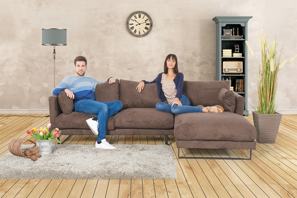 sofa martinotti italia alcantara sofas francesca cappuccino. Black Bedroom Furniture Sets. Home Design Ideas