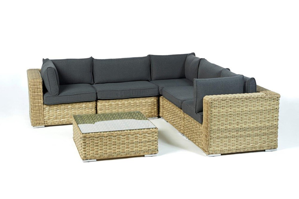 gartenecklounge gartenm bel gartenst hle maryland hellbraun gartenlounge rattan. Black Bedroom Furniture Sets. Home Design Ideas