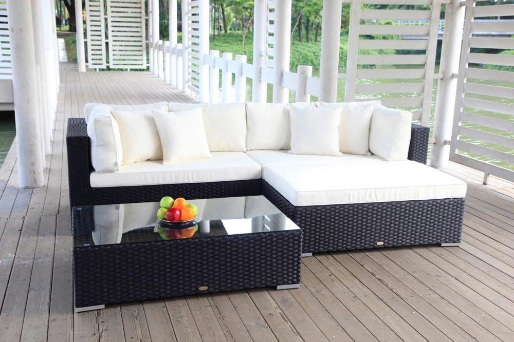 Gartenlounge   Garten Lounge - Buddha - Gartenmöbel - schwarz - Rattanmöbel ...