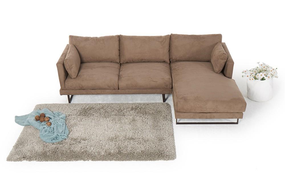 martinotti alcantara sofa francesca caramel. Black Bedroom Furniture Sets. Home Design Ideas