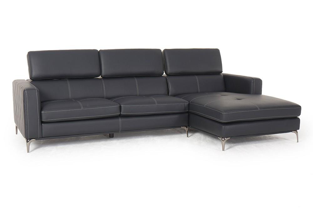 sofa martinotti italia noemi kunstleder sofa schwarz wohnzimmer sofalandschaft. Black Bedroom Furniture Sets. Home Design Ideas
