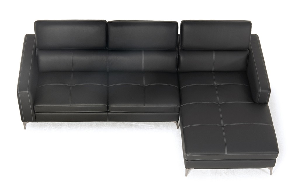 sofa martinotti italia noemi kunstleder sofa schwarz wohnzimmer sofalandschaft. Black Bedroom Furniture Sets. Home Design Ideas