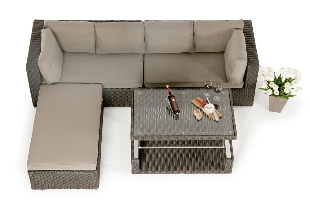 Outdoor Möbeltrend Lexa: Rattan Lounge Mit Esstisch. Das