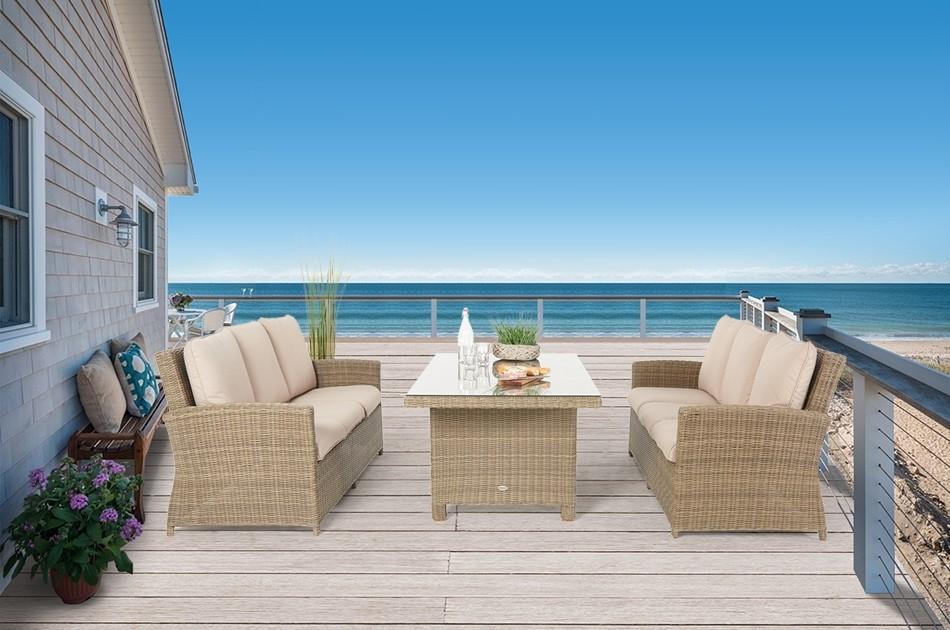 rattan garten lounge mit tisch rattan lounge dining set peppels mit hoher r ckenlehne. Black Bedroom Furniture Sets. Home Design Ideas