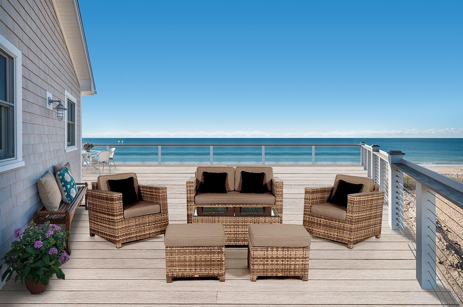 rattan gartenm bel rattan lounge rattanm bel dallas luxus m belfarbe natural. Black Bedroom Furniture Sets. Home Design Ideas