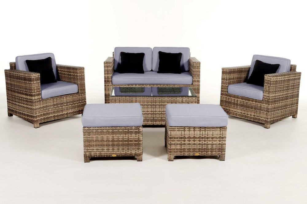 rattan gartenm bel rattan lounge rattanm bel dallas luxus m belfarbe natural. Black Bedroom Furniture Sets. Home Design Ideas