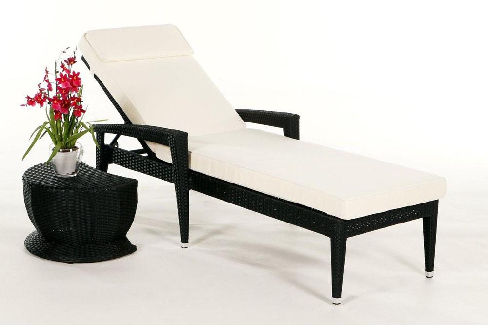 rattan liegestuhl rattan gartenliege rattanm bel. Black Bedroom Furniture Sets. Home Design Ideas