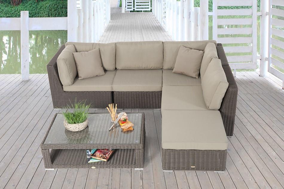 trendm bel elli rattan lounge dining set dass loungen und essen vereint der rattan tisch ist. Black Bedroom Furniture Sets. Home Design Ideas