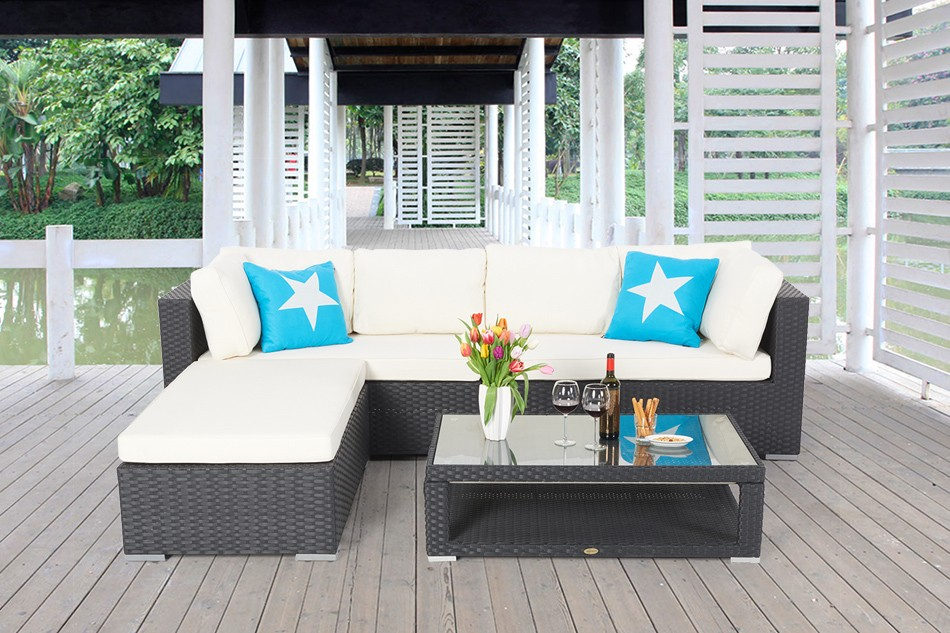 rattan lounge lexa gartenm bel schwarz rattanm bel garten lounge. Black Bedroom Furniture Sets. Home Design Ideas