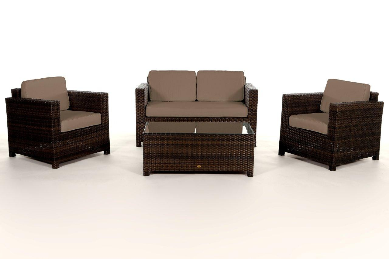 rattan lounge rattanmoebel rattan gartenm bel dallas braun. Black Bedroom Furniture Sets. Home Design Ideas