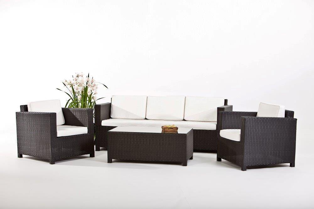 Rattanmöbel - Rimini - Rattan Gartenmöbel - Rattan Lounge - schwarz ...