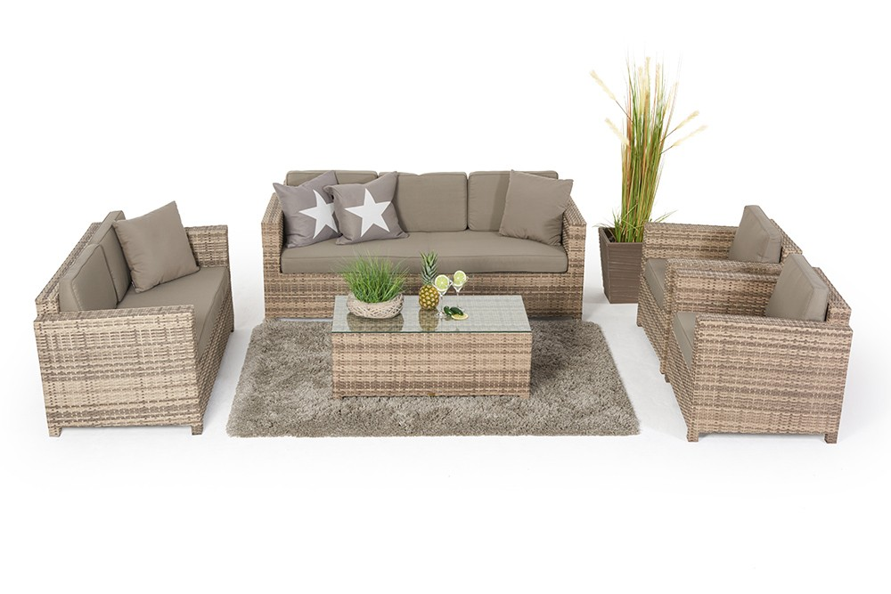 rattan lounge rattanm bel madison natural rattan gartenm bel. Black Bedroom Furniture Sets. Home Design Ideas