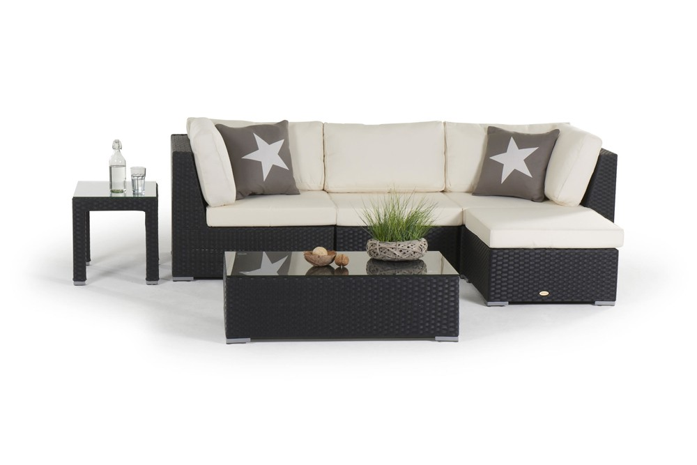 rattanm bel rattan garten lounge rattan lounge rattanm bel f r den garten karibik schwarz. Black Bedroom Furniture Sets. Home Design Ideas