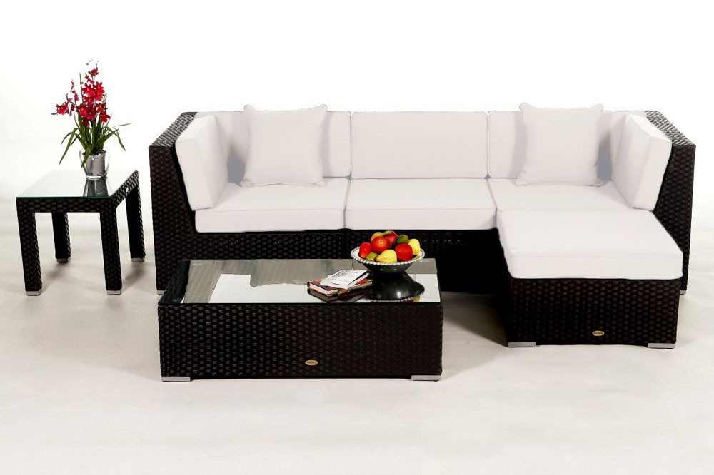 rattanm bel murano lounge rattan gartenm bel schwarz. Black Bedroom Furniture Sets. Home Design Ideas