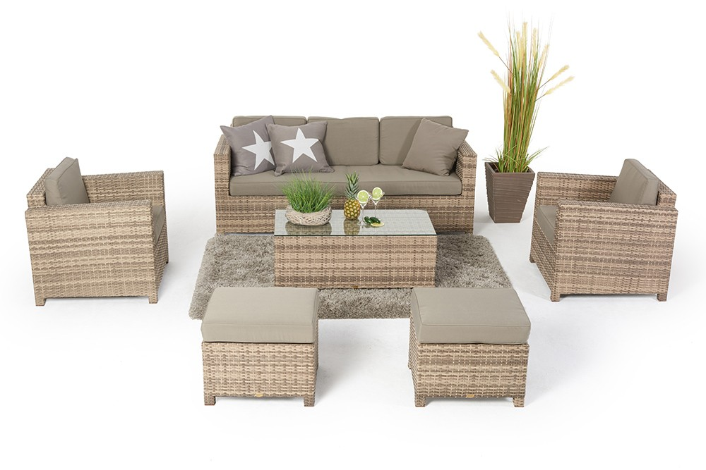rattan lounge rattanm bel rimini luxus natural rattan gartenm bel. Black Bedroom Furniture Sets. Home Design Ideas
