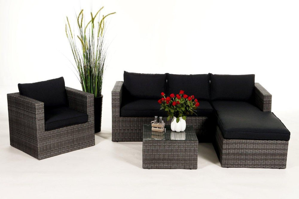 sofa ecksofa sofagarnitur rattansofa mix grau sofasessel wohnzimmersofas jurassic. Black Bedroom Furniture Sets. Home Design Ideas