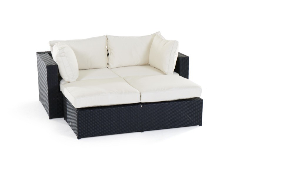 wohnzimmer sofa sofalounge bali schwarz klein. Black Bedroom Furniture Sets. Home Design Ideas