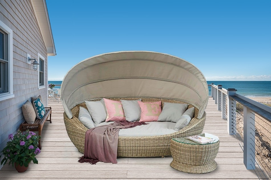 sonneninsel sonnenliege rattan insel rattan liege gartenm bel hawaii beige. Black Bedroom Furniture Sets. Home Design Ideas