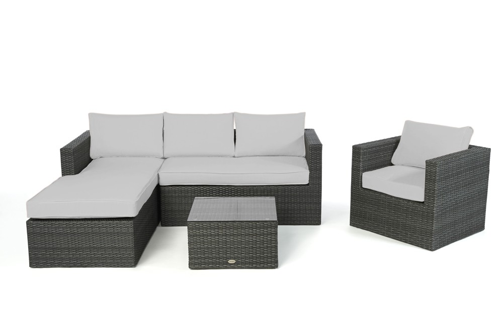 wohnzimmer sofas rattansofas moderne sofas wicker sofa jurassic mix grau rechts 202. Black Bedroom Furniture Sets. Home Design Ideas