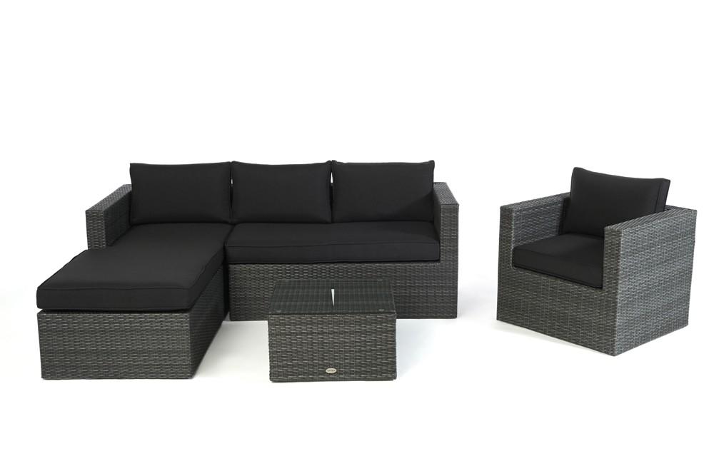 wohnzimmer sofas rattansofas moderne sofas wicker sofa jurassic mix grau rechts 202. Black Bedroom Furniture Sets. Home Design Ideas
