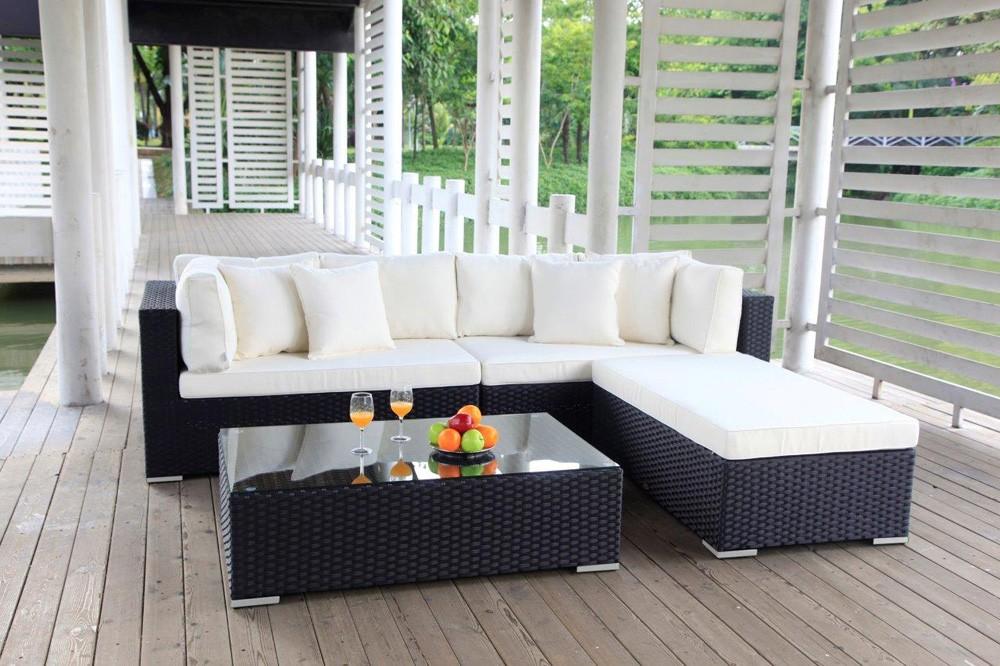 garten lounge - buddha - gartenmöbel - schwarz - rattanmöbel ... - Garten Lounge Mobel