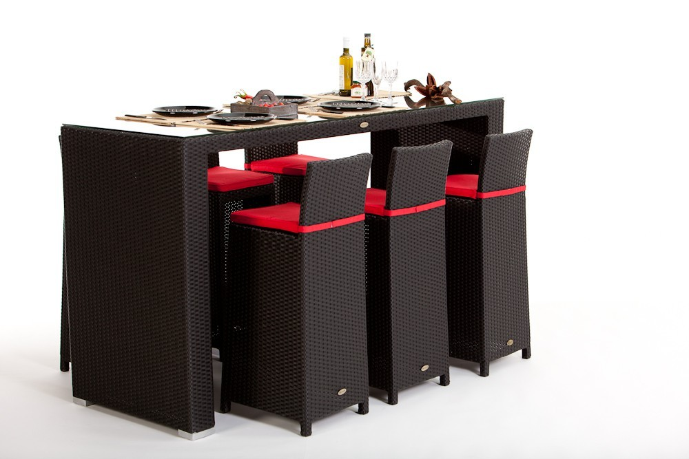 rattan bar rattan barset vip rattan barhocker mit. Black Bedroom Furniture Sets. Home Design Ideas