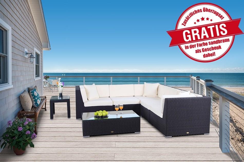 Rattanmöbel: Grosse und komfortable Rattan Lounge. Ideal um den ...