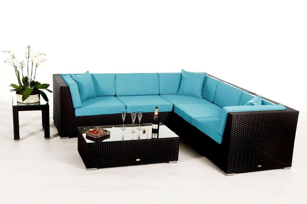 loungem bel polster bezug stoffbezug aqua day rattanlounge. Black Bedroom Furniture Sets. Home Design Ideas