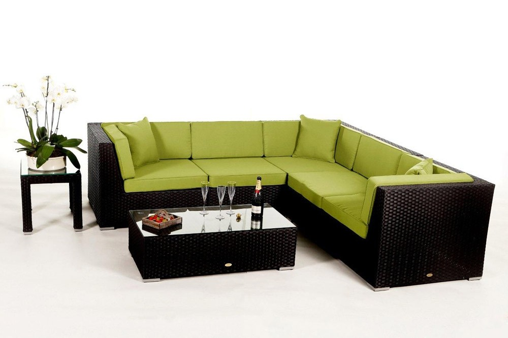 rattan gartenm bel zubeh r polsterbez ge in gr n day lounge. Black Bedroom Furniture Sets. Home Design Ideas