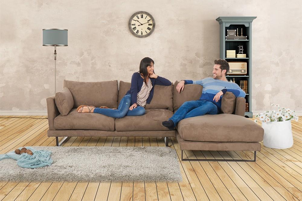 Martinotti   Alcantara Sofa   Francesca   Caramel   Wohnzimmer Sofas    Polstergruppe   Couch