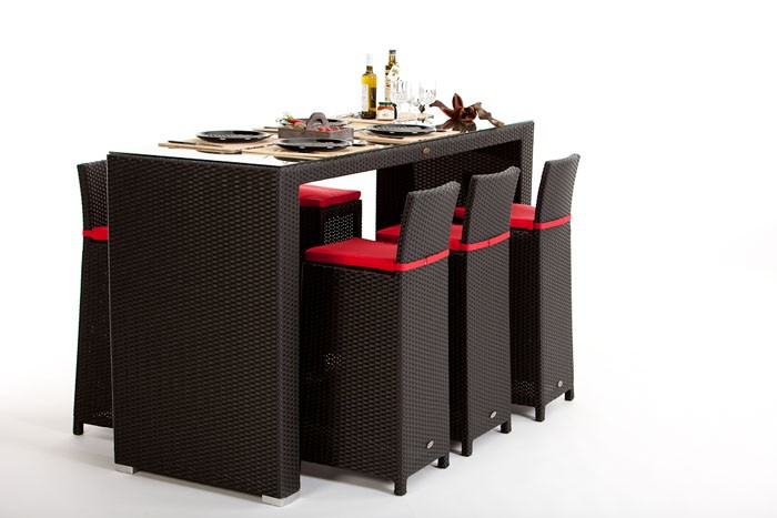 rattan bar rattan barset vip rattan barhocker mit r ckenlehne braun modern. Black Bedroom Furniture Sets. Home Design Ideas