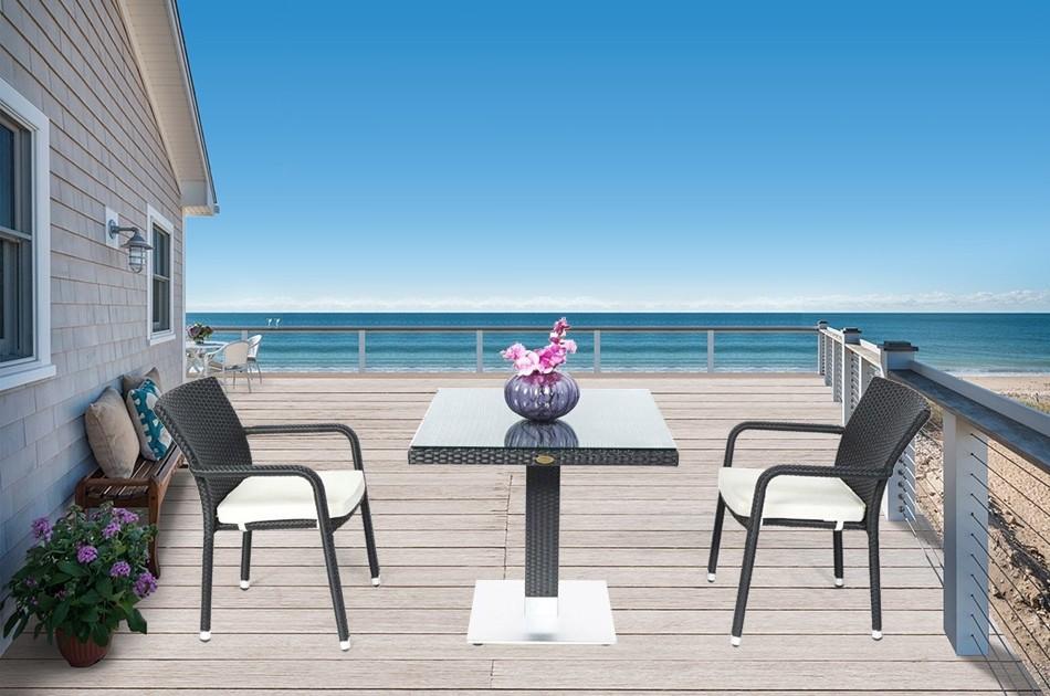 Kleiner Balkontisch Stuhle Stapelbar Rattan Gartenmobel Tischset