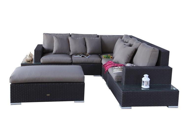 Rattan ecksofa lounge  Sofa - Sofalandschaft - Sofagarnitur - Ecksofa - Venezia - Lounge ...