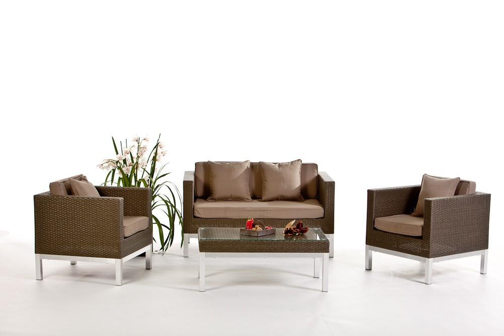 wohnzimmer sofas loungesofa sofalounge 2er sofa sessel opera polsterbezug sandbraun. Black Bedroom Furniture Sets. Home Design Ideas