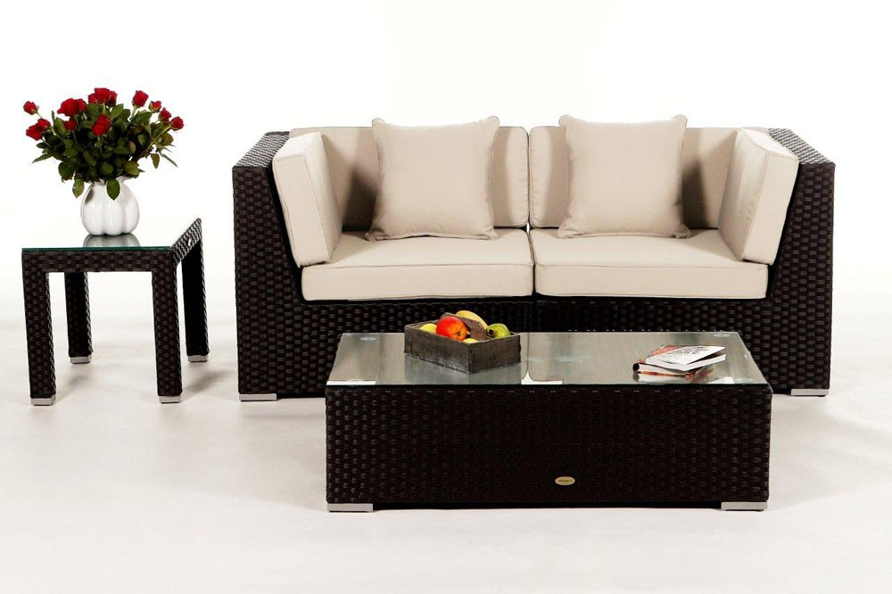 lounge sofalounge rattan lounge orient schwarz. Black Bedroom Furniture Sets. Home Design Ideas