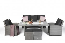 rattan tisch rattan esstisch eckbank essgruppe tichset esszimmer m bel. Black Bedroom Furniture Sets. Home Design Ideas