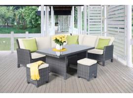 esszimmer esstisch eckbank eckbankgruppe esszimmertisch betty mix grau. Black Bedroom Furniture Sets. Home Design Ideas