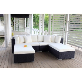 garten lounge buddha gartenm bel schwarz rattanm bel rattan lounge. Black Bedroom Furniture Sets. Home Design Ideas