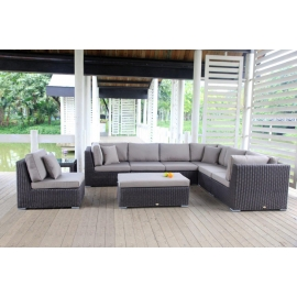 rattan gartenm bel grosse rattan lounge rattanm bel lord braun. Black Bedroom Furniture Sets. Home Design Ideas
