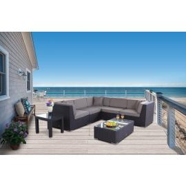 rattanm bel grosse und komfortable rattan lounge ideal. Black Bedroom Furniture Sets. Home Design Ideas
