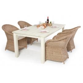 Holztisch Gartentisch Set Mit Viel Charme Das Tischset Noella