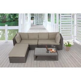 ... Lexa Grosse Outdoor Lounge: Garten Loungemöbel Braun ...