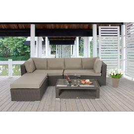 outdoor m beltrend lexa rattan lounge mit esstisch das. Black Bedroom Furniture Sets. Home Design Ideas