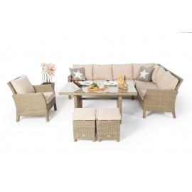 ... Rattan Lounge Essgruppe Natural Mit Garten Deko ...