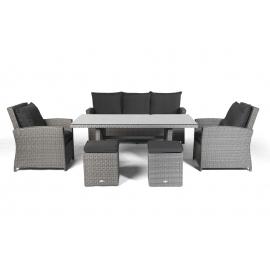 Rattan lounge grau  Rattan Lounge Dining - Rattan Esstisch - Rattan Stühle - Rattan ...