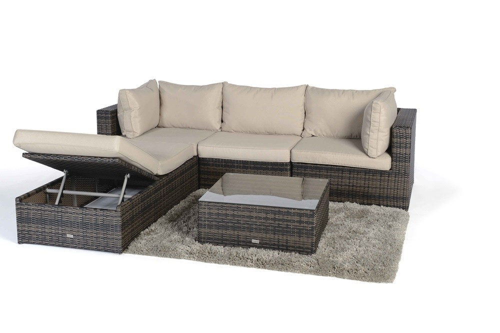 rattan lounge die vielseitige rattan lounge potter in der farbe braun begeistert durch die. Black Bedroom Furniture Sets. Home Design Ideas