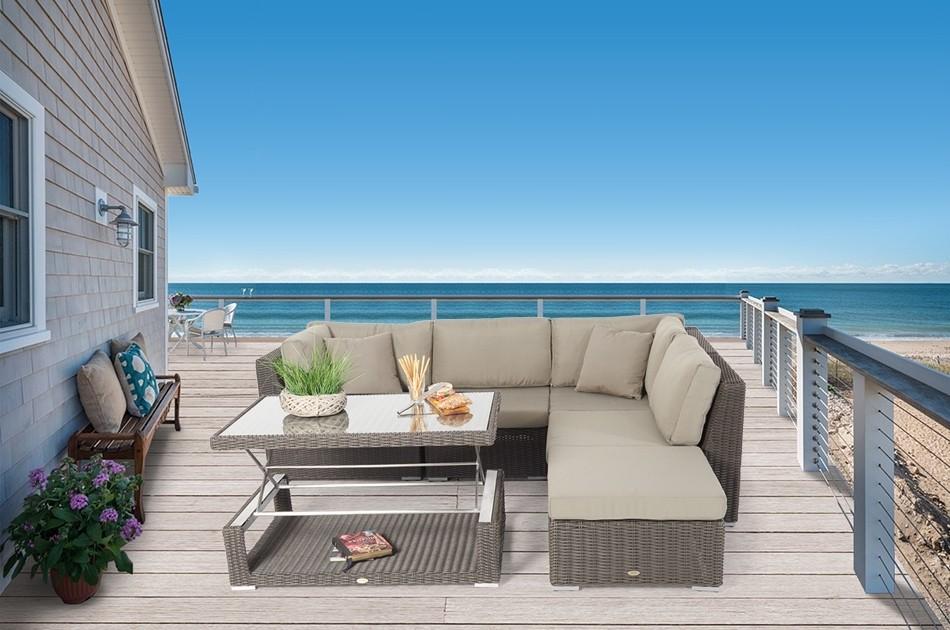 trendm bel elli rattan lounge dining set dass loungen und. Black Bedroom Furniture Sets. Home Design Ideas