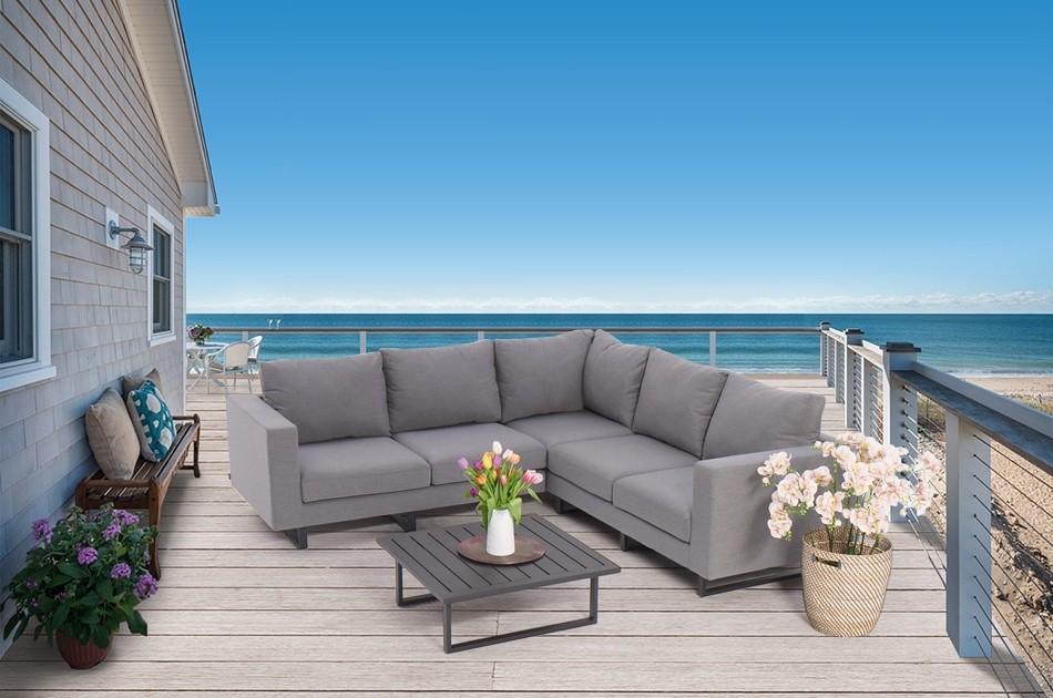 Santorini Outdoor Lounge grau